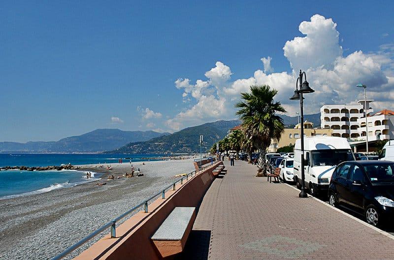 A beautiful promenade of Ventimiglia