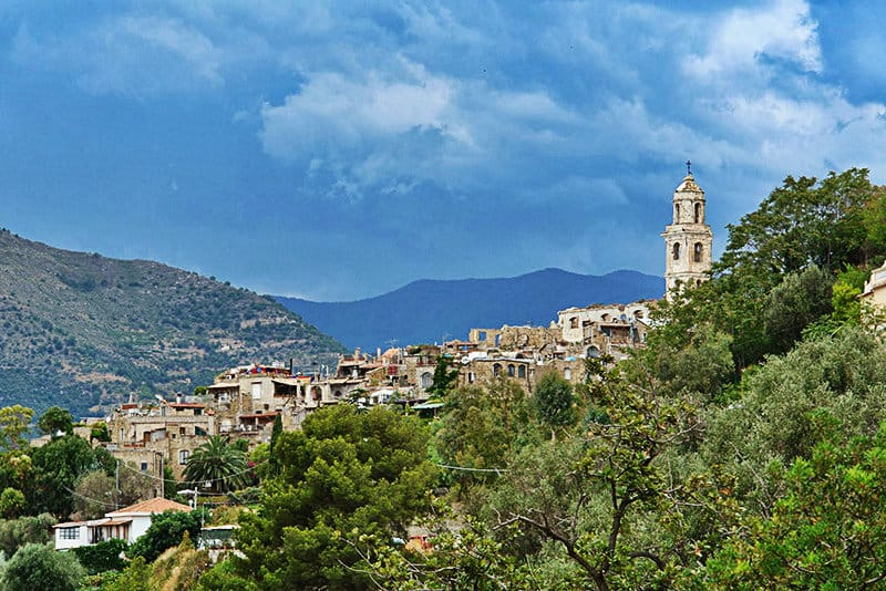 View of a beautiful holiday destination Bussana Vecchia
