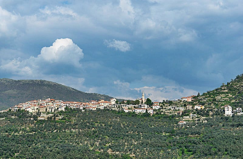 A breautiful panorama view of Chiusanico