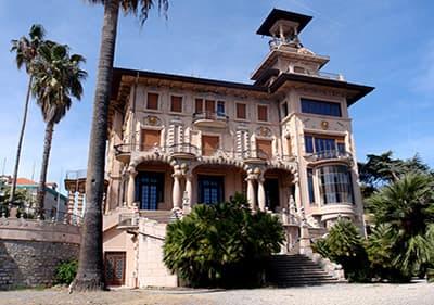 The beautiful Villa Grock - Museo del Clown in Ligurien