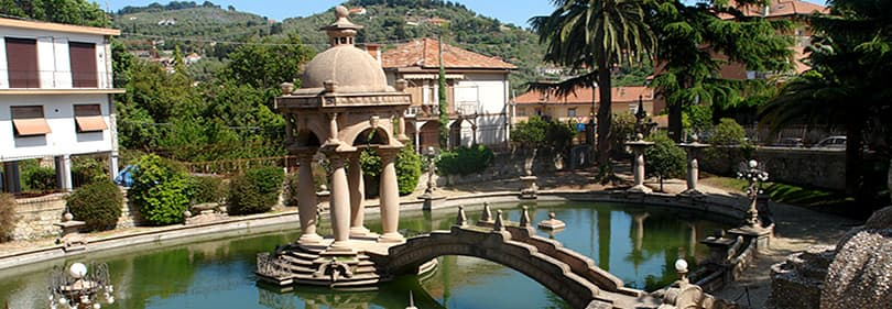 A beautiful fountain in Villa Grock, Imperia