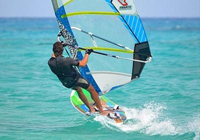 Wind-surfing in Liguria