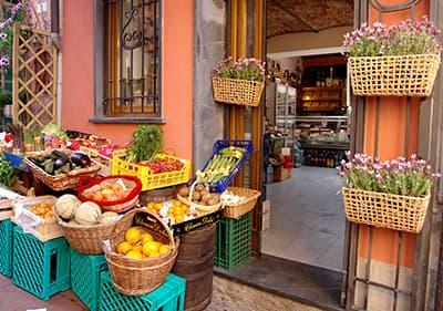 Obst und Gemüse Markt in Ligurien