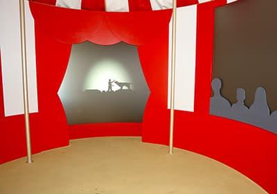 Circus room in Villa Grock, Liguria