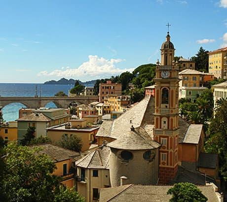View of Zoagli city in Liguria