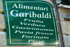Alimentari Garibaldi Grocery store in Liguria