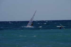 Bagni La Scogliera sailboarding in Liguria