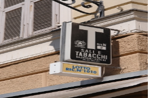 Tabacchi Grocery store in Liguria