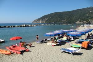 Serviced Public Beach Beaches in Liguria