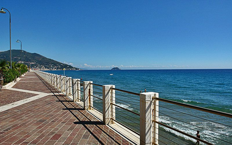 Promenade of Alassio