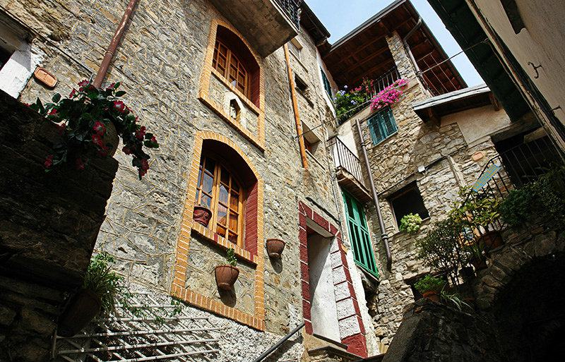 A beautiful view of the houses in Apricale