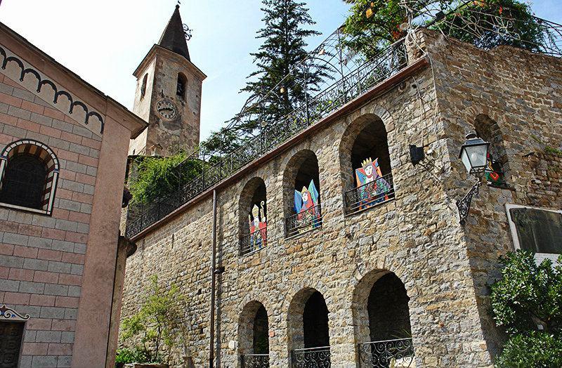 View from Castello della Lucertola in Apricale