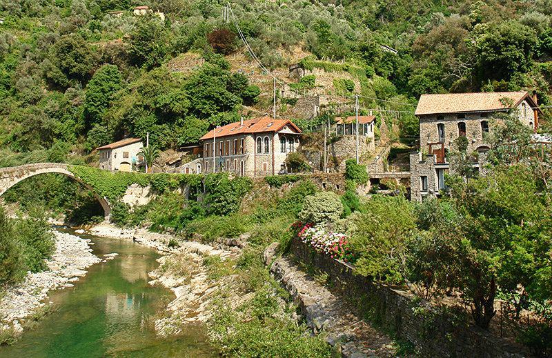 A river in Badalucco, Liguria