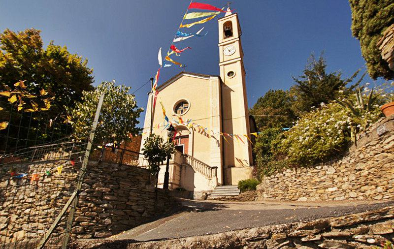 An old church in Bellissimi, Liguria