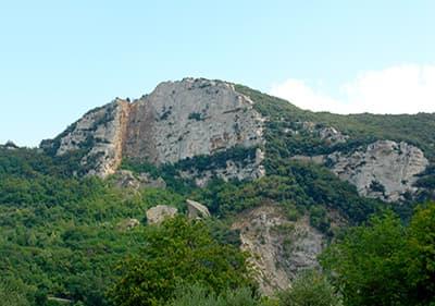 A mountain in Liguria, Italy