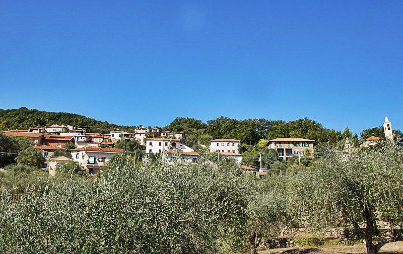 View of a wonderful village of Bellissimi in Liguria