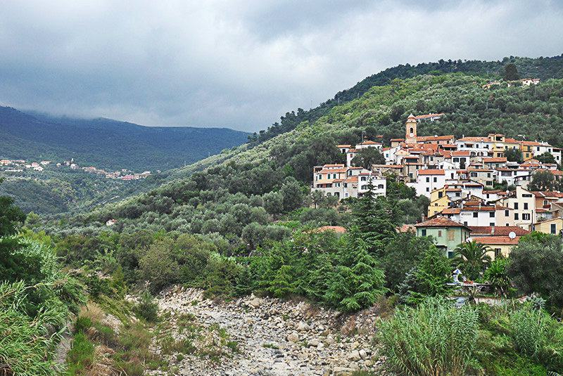 A beautiful view of holiday destination Diano Roncagli in Liguria