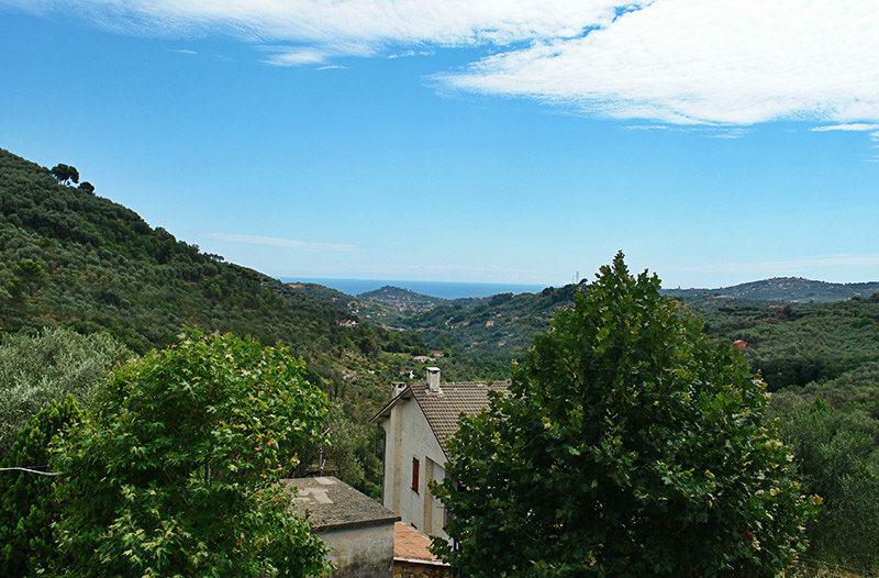 View of Moltedo in Liguria