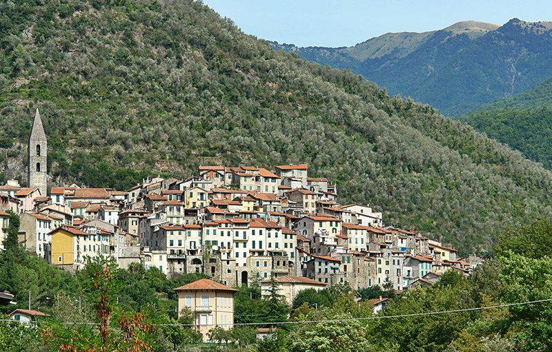 A beautiful view of a holiday resort Pigna in Liguria