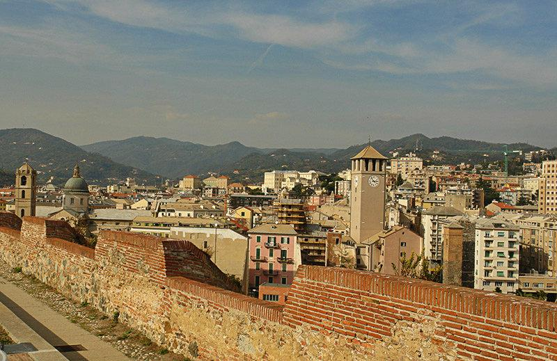 A view from the Priamar castle in Savona