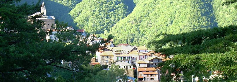 View of Mendatica in Liguria