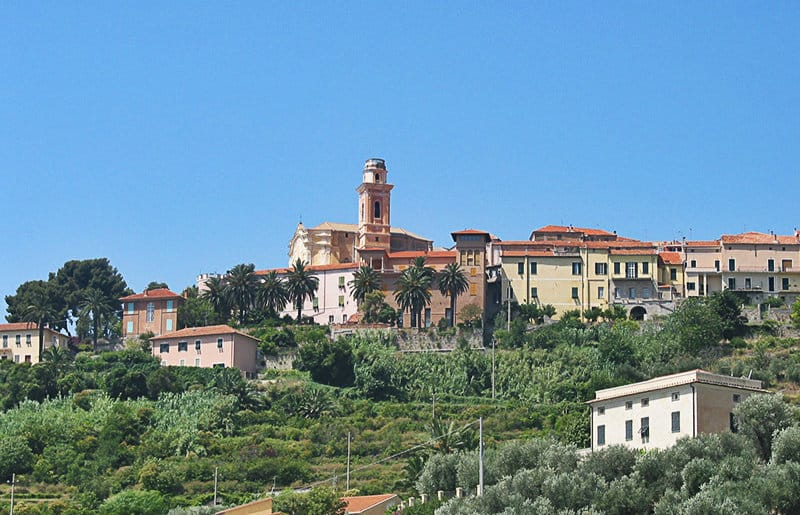 A beautiful view of the old town of Diano Castello