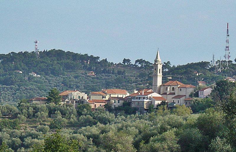 View of a village Gorleri in Liguria