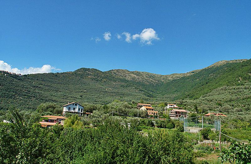 View of a beautiful village of Gazzelli in Liguria