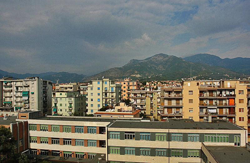 Beautiful view of Loano city in Liguria