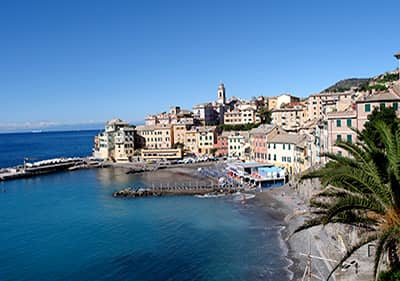 Beach in Bogliasco, Liguria