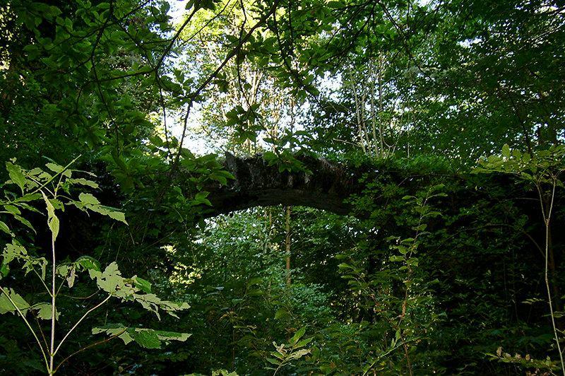 A bridge in Mendatica is a tourist attraction