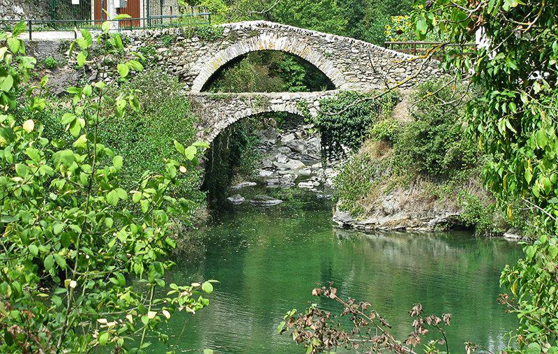 A beautiful bridge of Molini di Triora