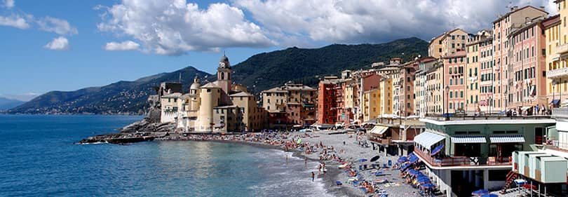 Beach in the province of Genoa, Liguria