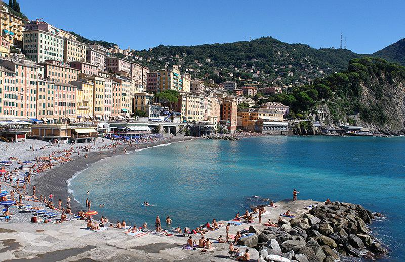 A wonderful view of Camogli in Liguria