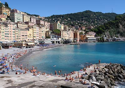 Beach in Camogli, Liguria