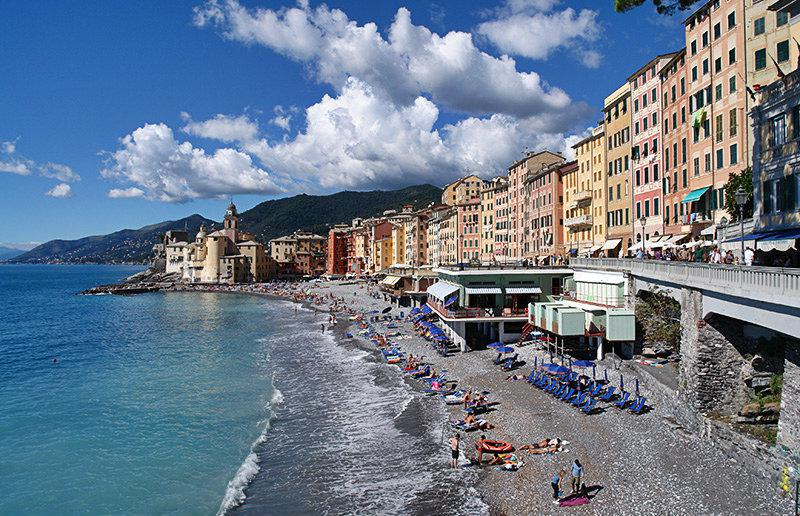 Beautiful view of a holiday destination Camogli