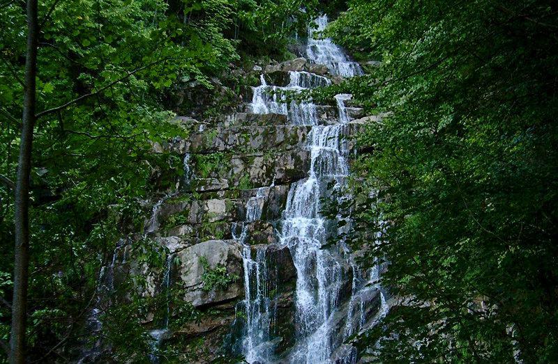 Waterfall Cascate dell Arroscia of Mendatica in Liguria
