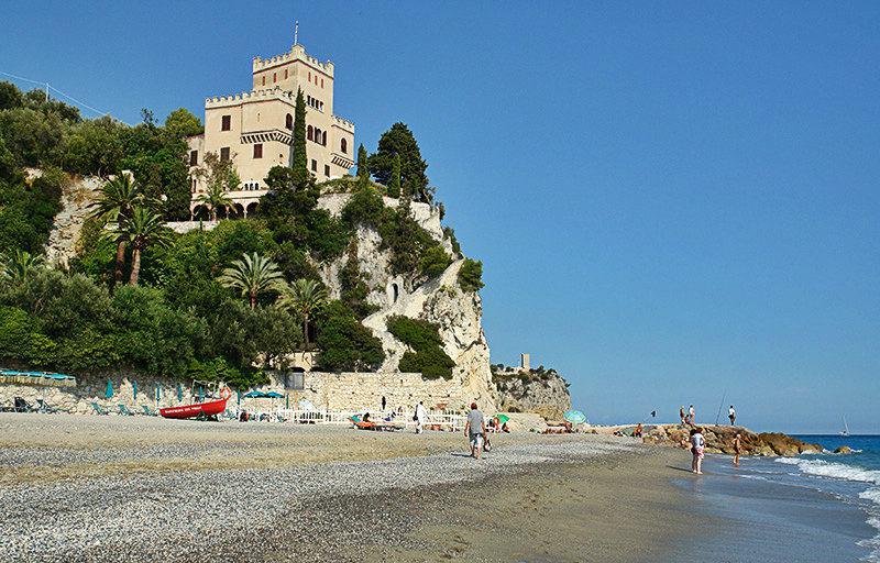 A view of Castel Gavone in Finale Ligure