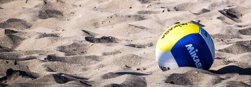 Beach Volleyball at the sandy beach of Liguria, Italy