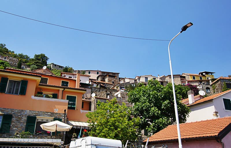 A beautiful view of the houses in Diano Arentino