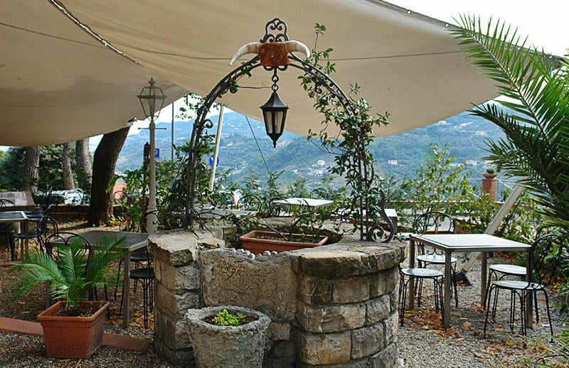 A beautiful restaurant in the town center of Diano Castello