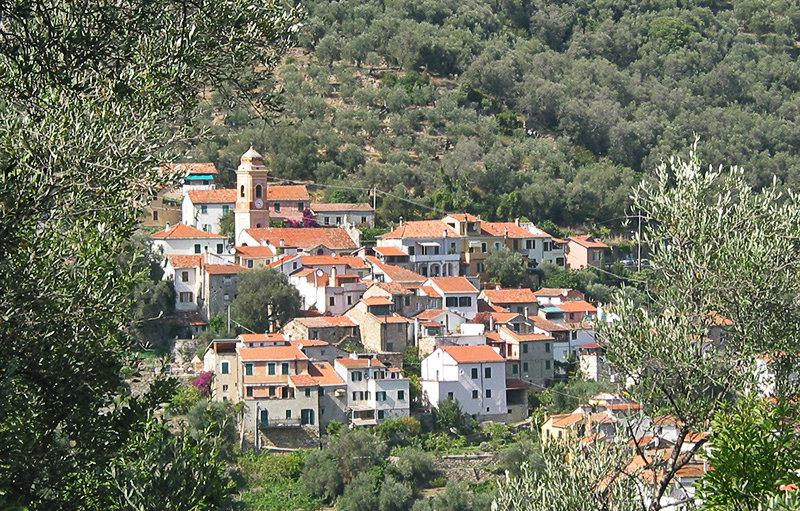 View of a beautiful village of Diano Roncagli