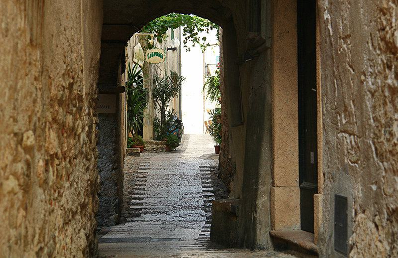 Romantic street in Borgio Verezzi, Liguria
