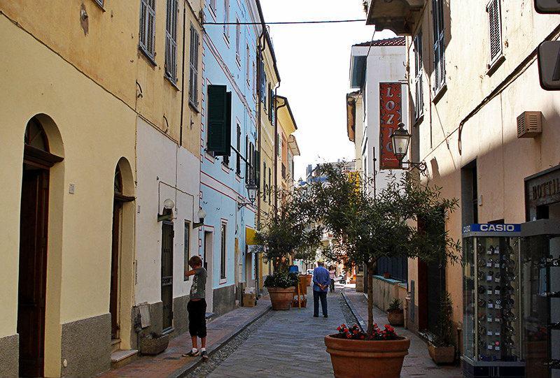 A romantic street in Ospedaletti