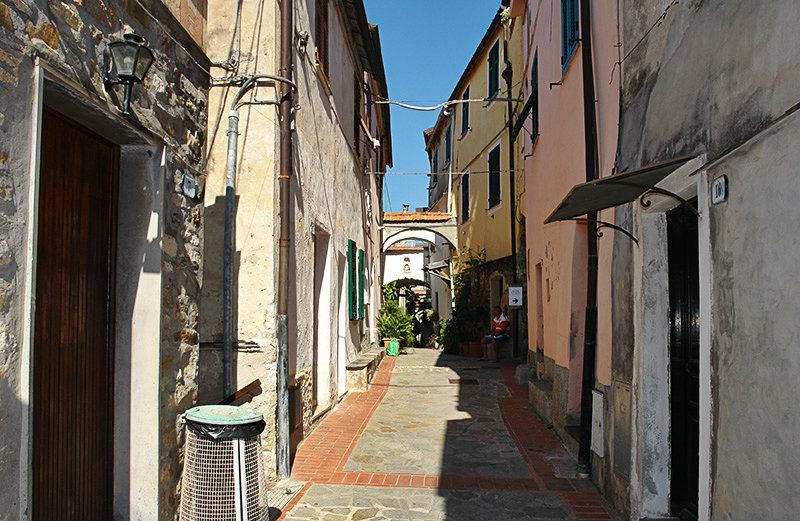 A romantic street in Varcavello, Liguria