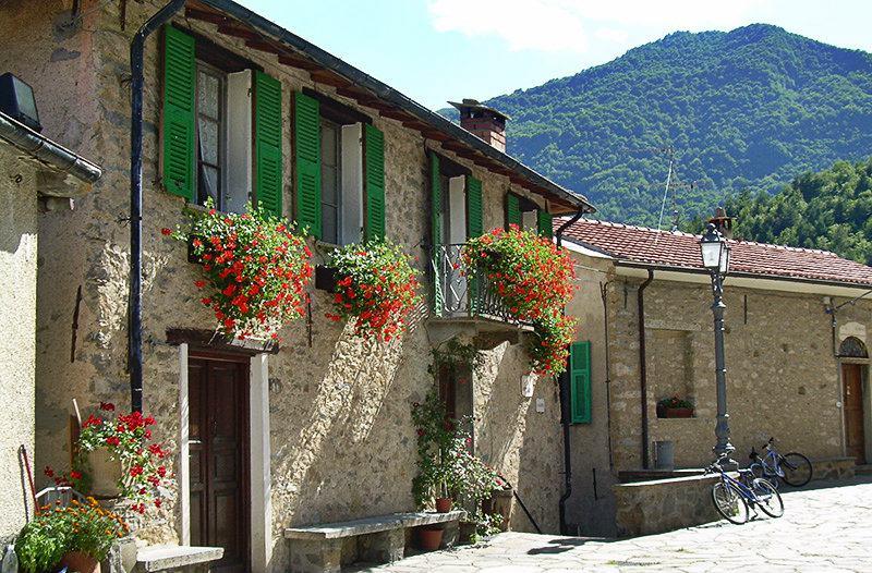 A romantic street in Mendatica