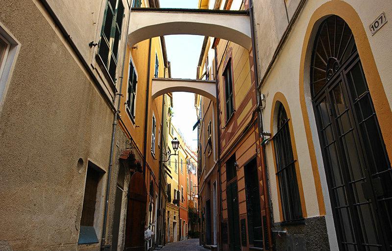 A romantic street in Pietra Ligure