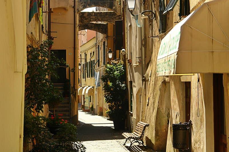 A romantic street of Santo Stefano al Mare