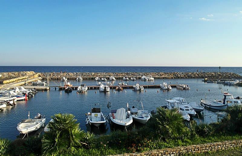 A beautiful port of Santo Stefano al Mare