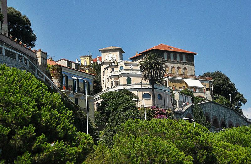 A beautiful view of the houses in Celle Ligure